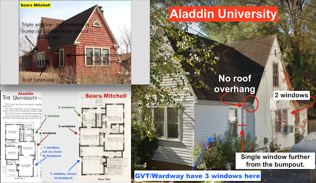 infographic comparing Sears Mitchell to lookalike made by Aladdin: University model