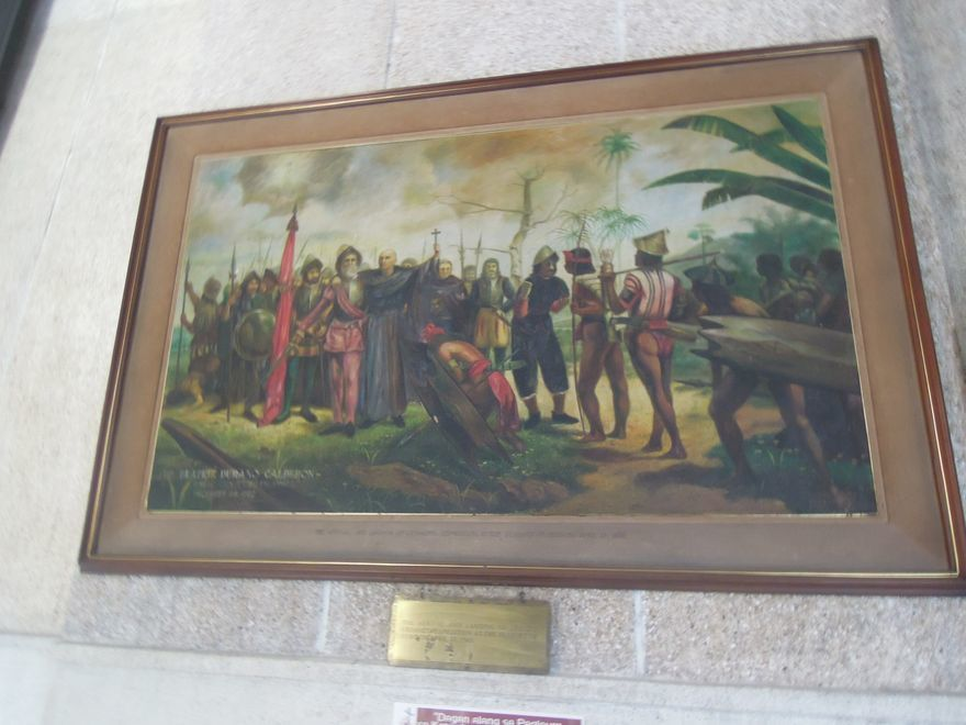 A painting inside Sto. Nino Shrine in Cebu City