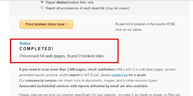 Hasil pencarian broken link