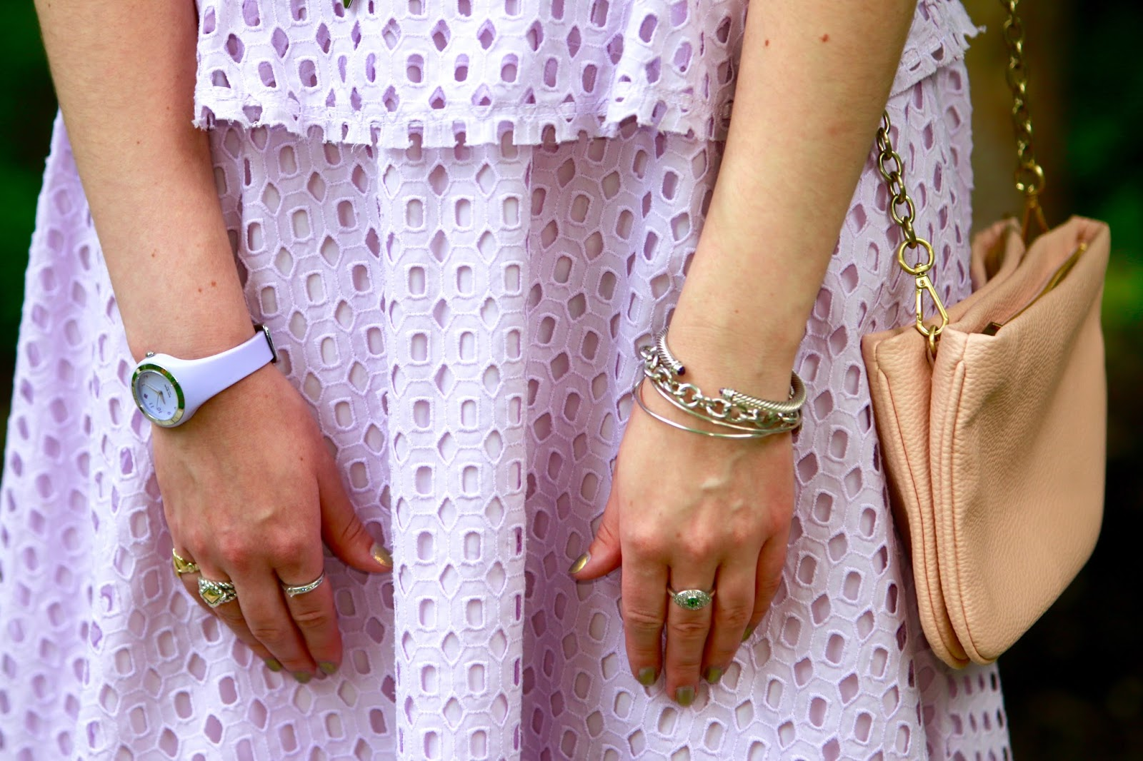 purple peplum lavender watch