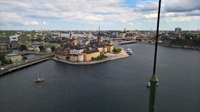 View from City Hall Tower to Riddarholmen.