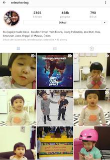 Instagram Retno Hening