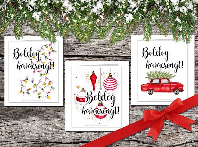 Boldog karácsonyt képeslapok - INGYEN! OszlánsziART