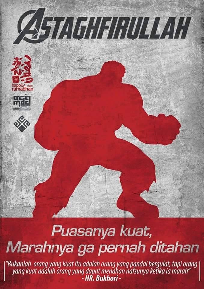kumpulan poster dakwah islam tema the avengers dari mdc