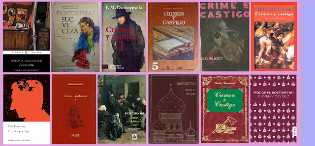 portadas del libro Crimen y castigo, de Dostoievski