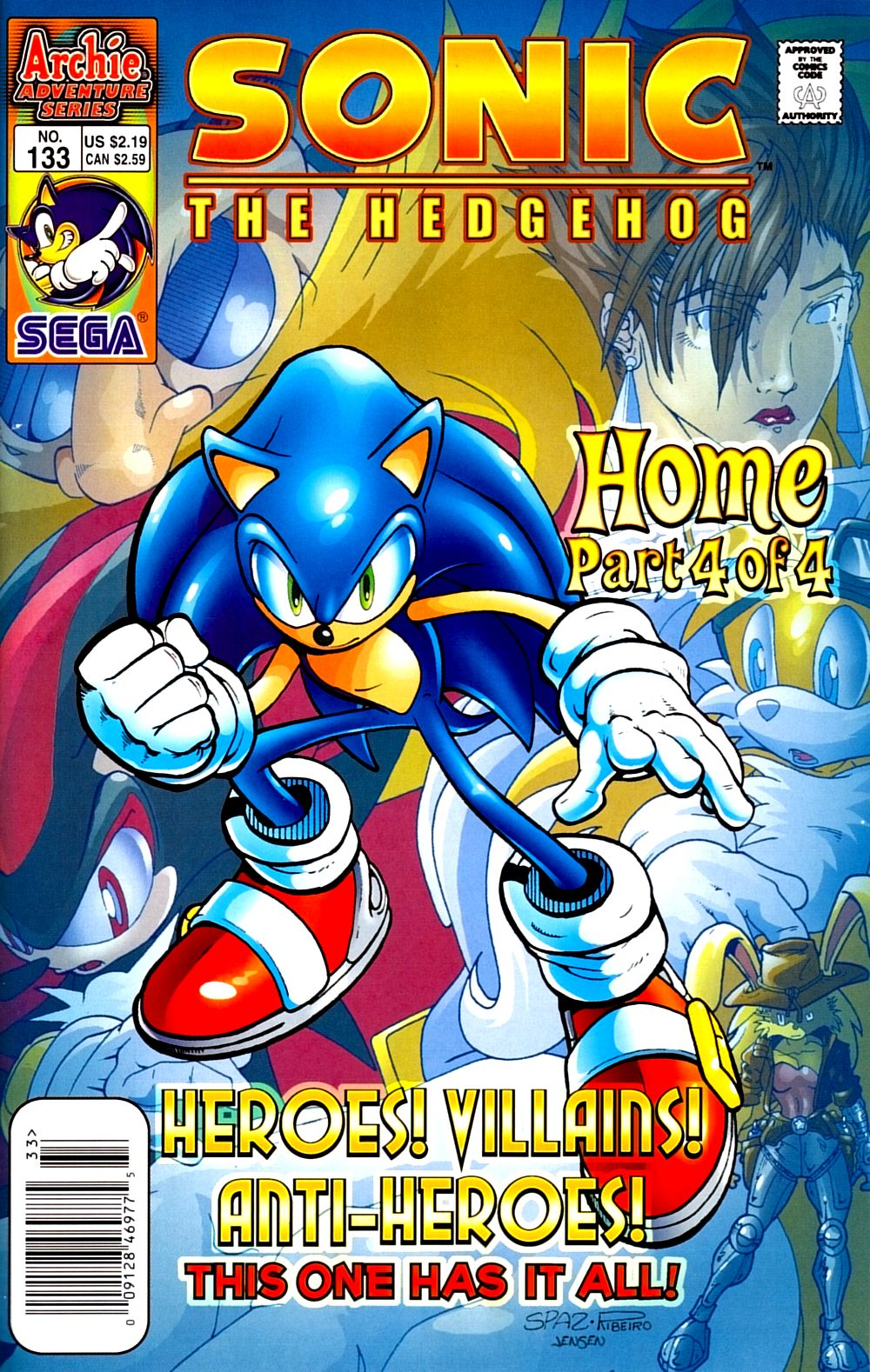 Read online Sonic The Hedgehog comic -  Issue #133 - 1