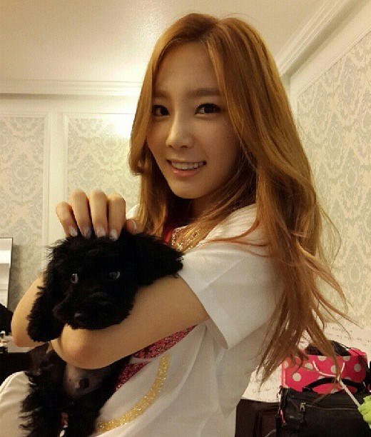 Girls' Generation's Taeyeon snapped a lovely photo with Ginger