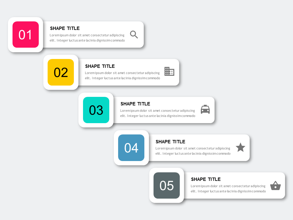 Point Number List PowerPoint Templates - PowerPoint Free