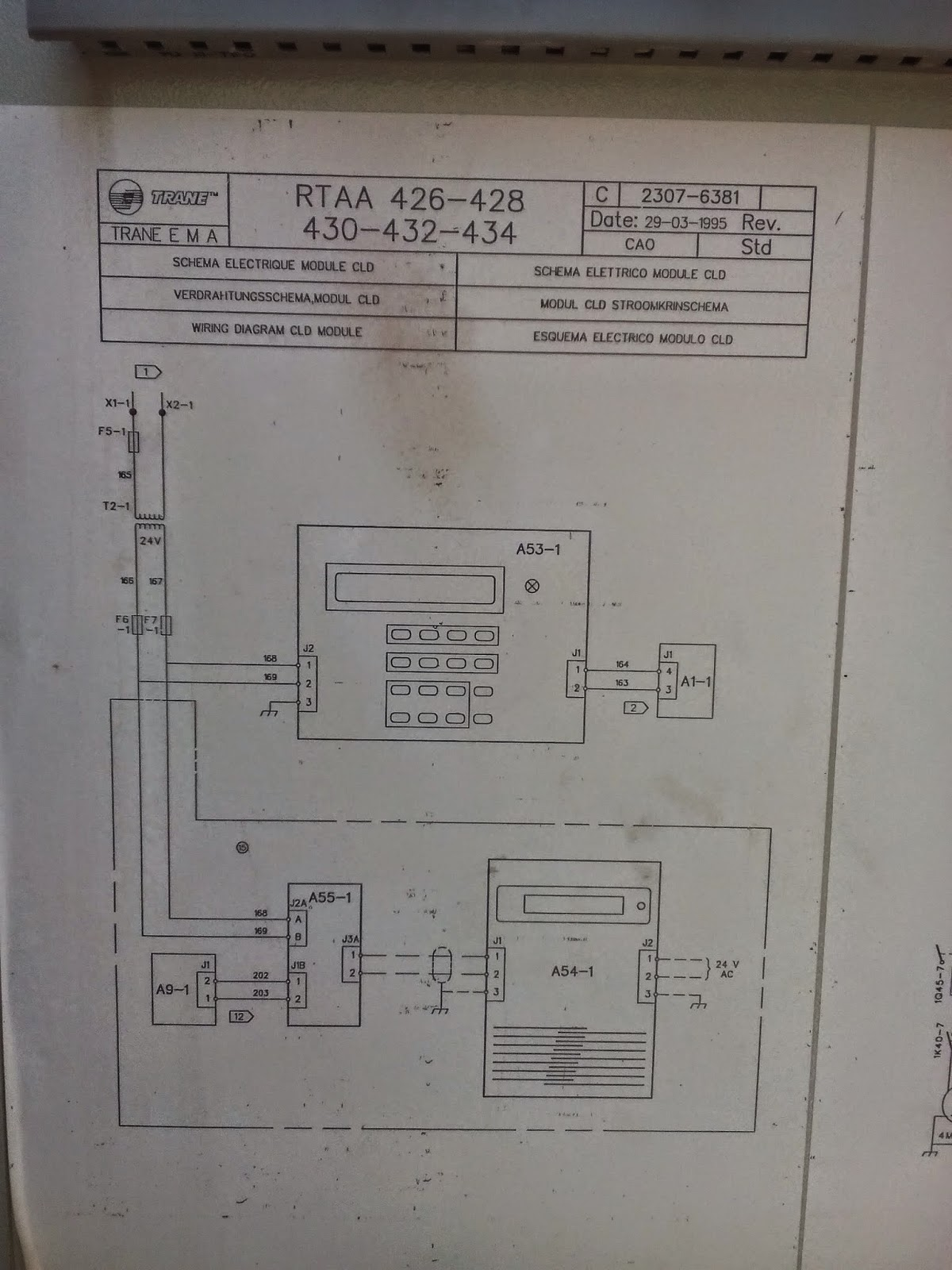 HVAC, CHILLERS, HEATPUMP: Trane chiller air cooled control wiring diagram RTAA Series