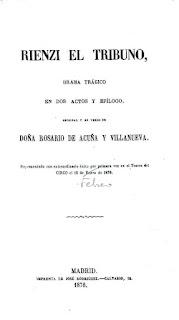 Imagen de la portada de Rienzi el Tribuno