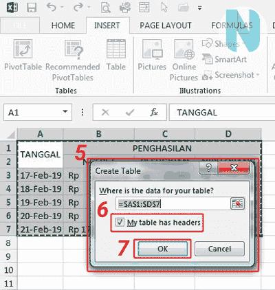 gbr.3 Cara Membuat Tabel Microsoft Excel Nandur93