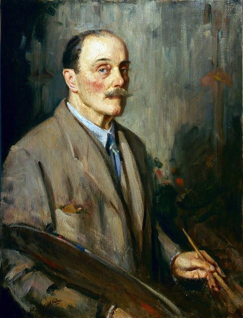 Wilfrid Gabriel de Glehn, Self Portrait, Portraits of Painters, Fine arts, Wilfrid de Glehn, Portraits of painters blog, Paintings of Wilfrid de Glehn, Painter  Wilfrid de Glehn