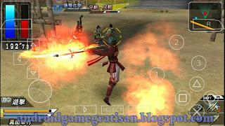 Salah satu game yang saya sukai dulu di PS Basara Battle Heroes Iso