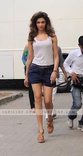 Deepika Padukone Walking In Short And Top