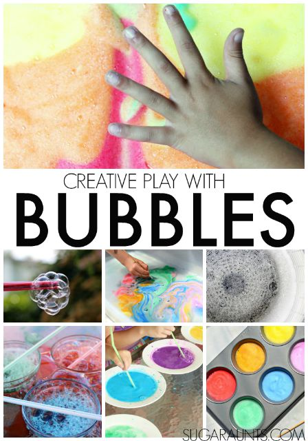Creative play and craft ideas for kids, using Bubbles