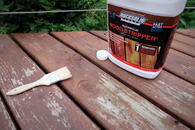 chip brush stain strip remove wood deck outdoor