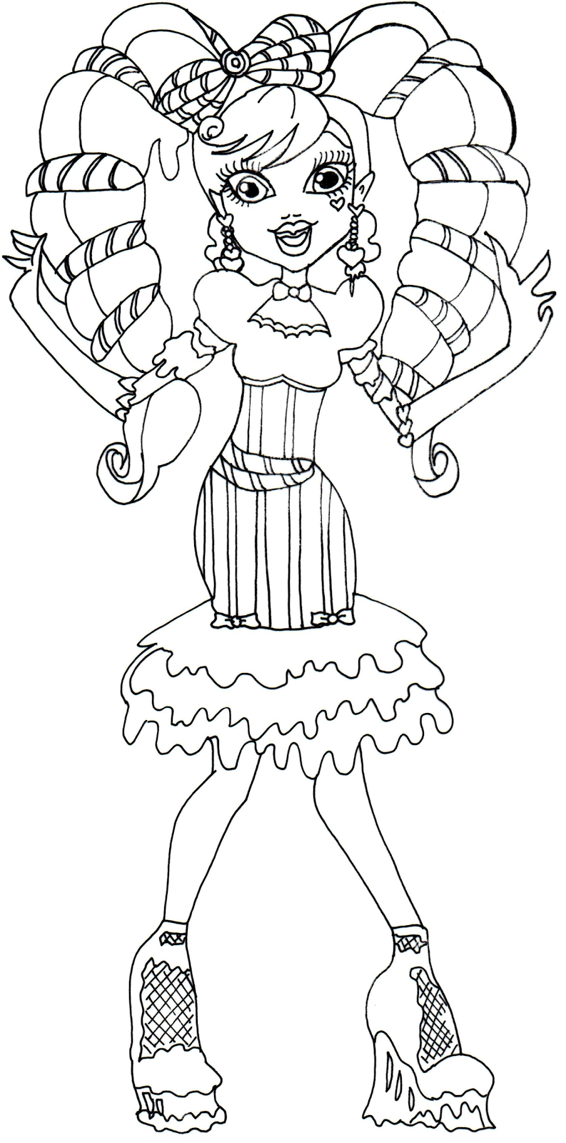 Free Printable Monster High Coloring Pages: Draculaura Sweet Screams ...