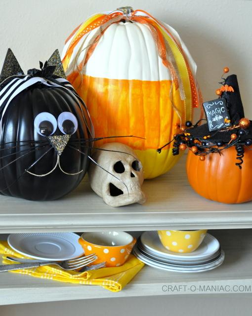 DIY Faux Decorated Pumpkins