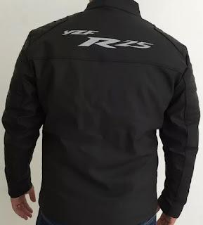 Gambar Model Jaket Kulit R25 Tampak Belakang