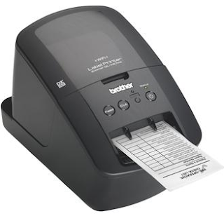 The Brother QL-720NW is a fairly large device, but with the same dimensions as many other label printers. Connectors include USB, ethernet and serial port.
