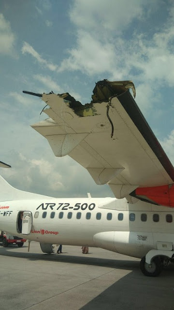 Pesawat Lion Air dan Wings Air Bersenggolan di Bandara Kualanamu