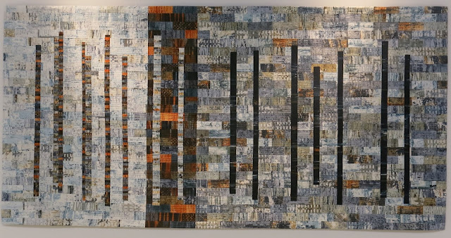 Birmingham Festival of Quilts 2016 - Ruins 6 by Leah Higgins - Winner of Art Quilts category