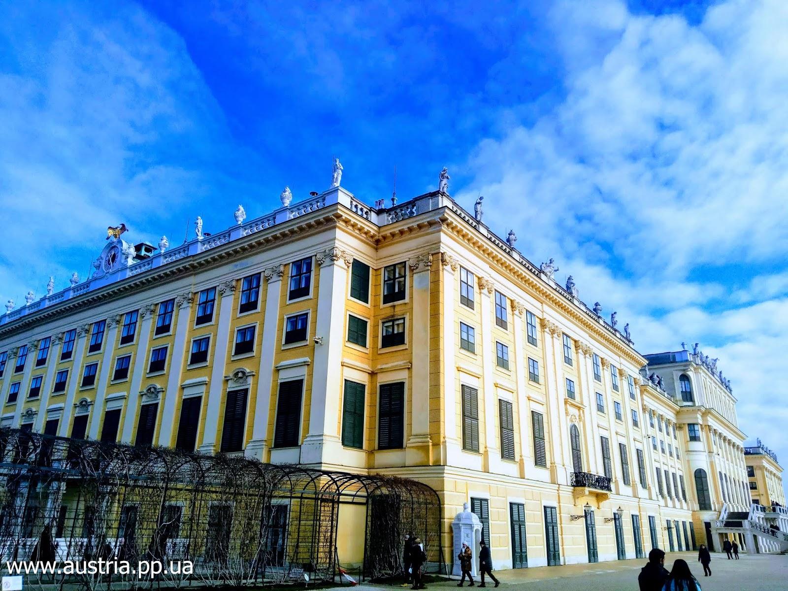 Замок Schloß Schönbrunn в Вене