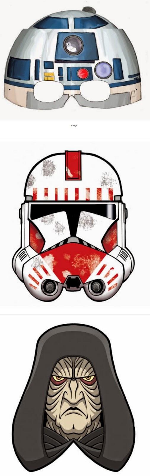 Star Wars Episodio 1: Máscaras para Imprimir Gratis.