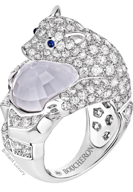 Brilliant Luxury♦Boucheron Paris Arctic Polar Bear ring