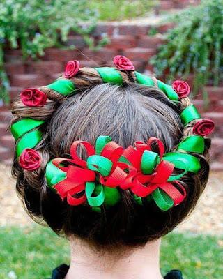 peinados de navidad para niñas con cabello corto