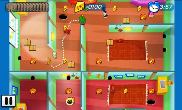 ثبت الآن على موبايلك لعبة  توم وجيري: متاهة الفأر