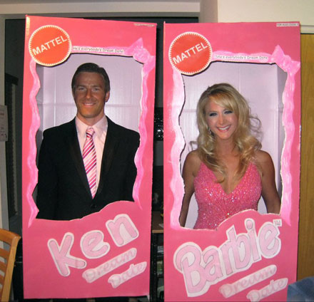 Ken and Barbie Halloween Costume as seen on Costume Works
