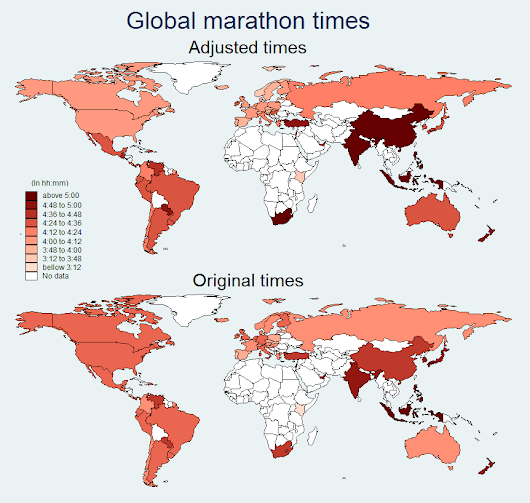 Which are the fastest (and slowest) running countries in the world?