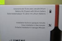 Verpackung hinten: Lumen Basic schwarz ? Rauchmelder, ersetzt Ihr Sockel/Pavillon Luminaire (Noxe)