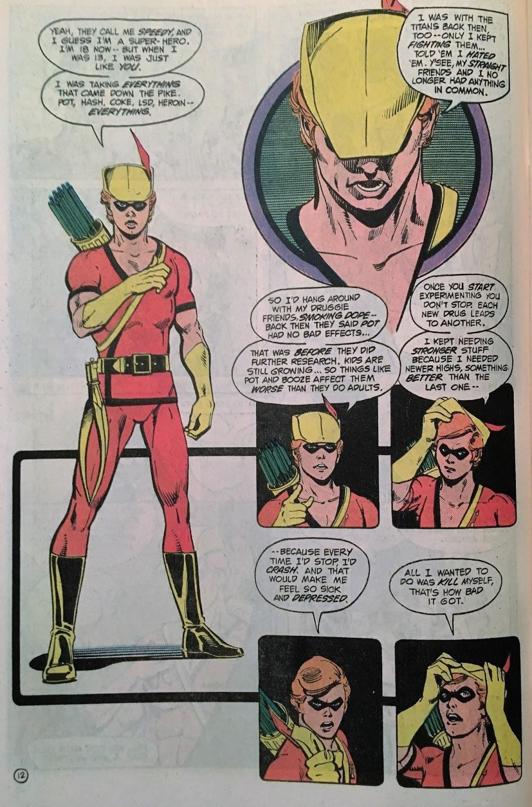 Chris is on Infinite Earths: New Teen Titans Drug Awareness
