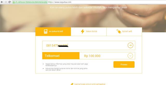 Cara Membeli Pulsa Online di SEPULSA.COM Dengan Kartu Kredit dan Gratis Voucher Belanja
