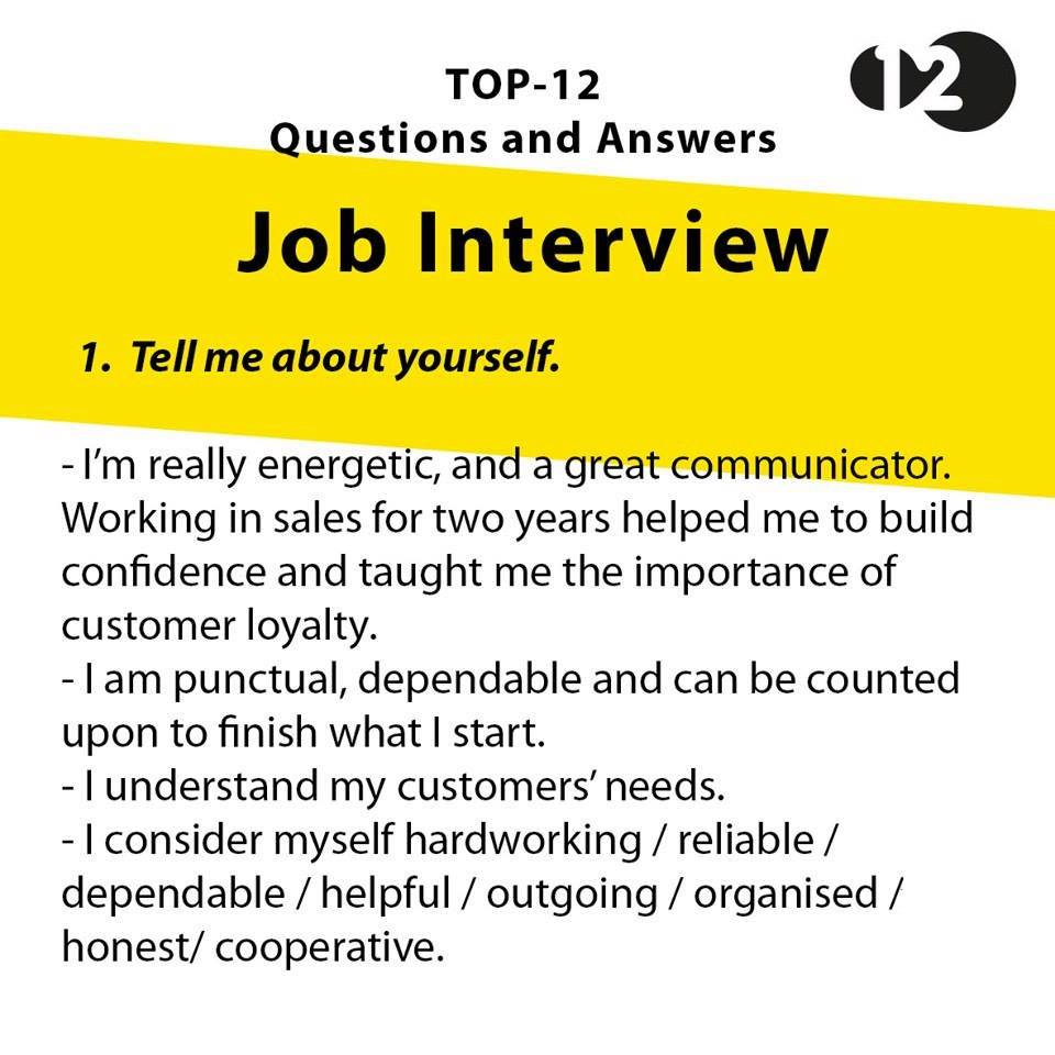 best dating interview questions We compiled a list of the top questions you might be asked when going through a job interview these questions and answers will have you be prepared for any job interview.