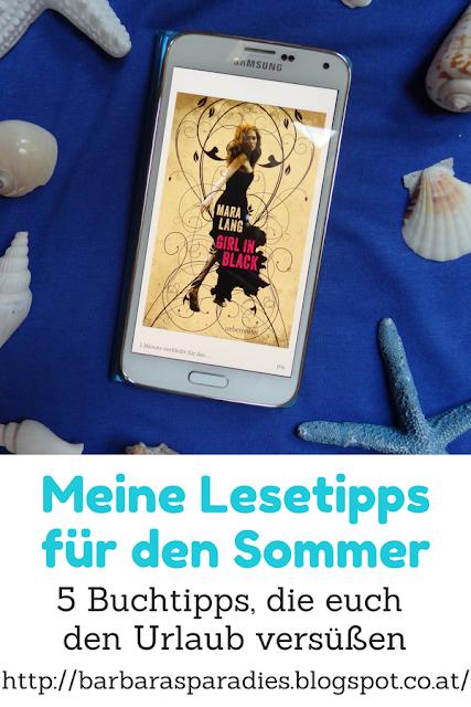Meine Lesetipps für den Sommer: 5 Buchtipps, die euch den Urlaub versüßen - Girl in Black von Mara Lang