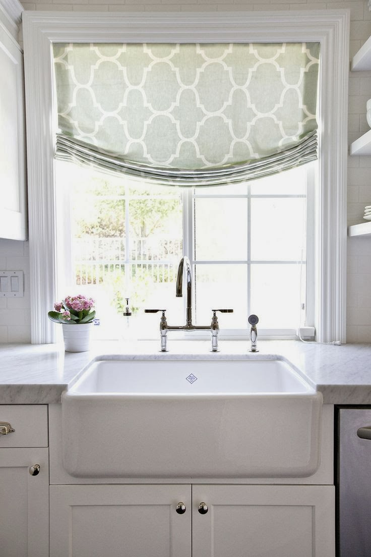 Window Treatment Ideas: View From My Heels: Kitchen Window Treatments
