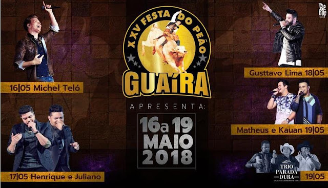 25ª Festa do Peão de Guaíra SP 2018