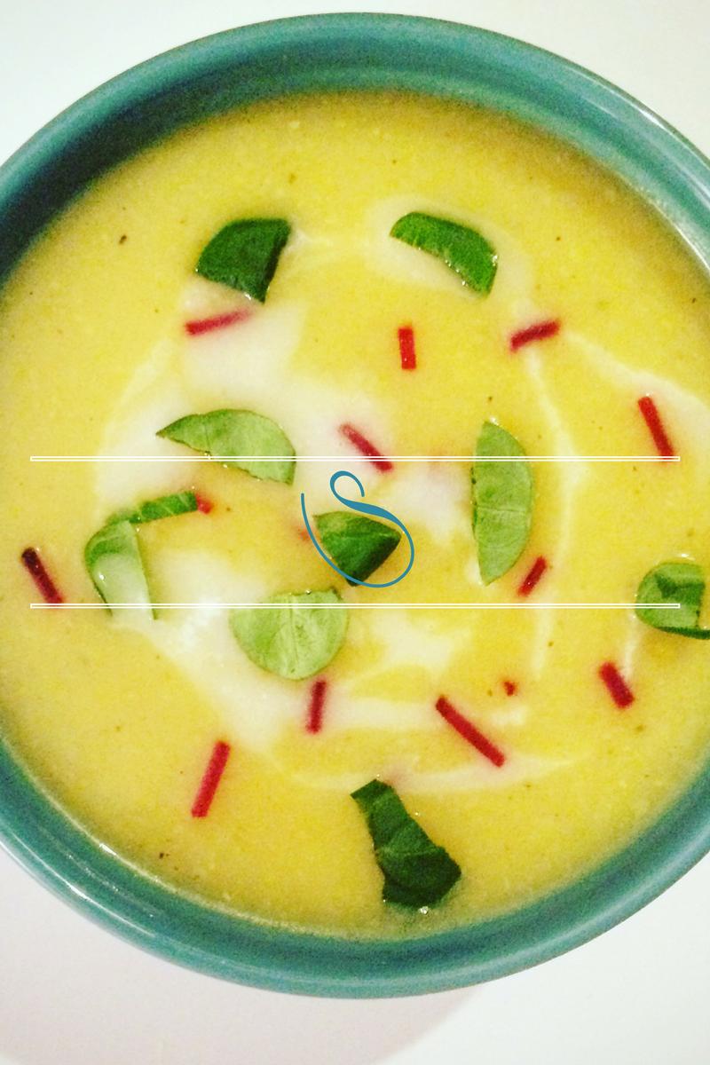 #Healthy butternut, sweet potato & carrot soup | Velouté de courge butternut, patate douce & carottes