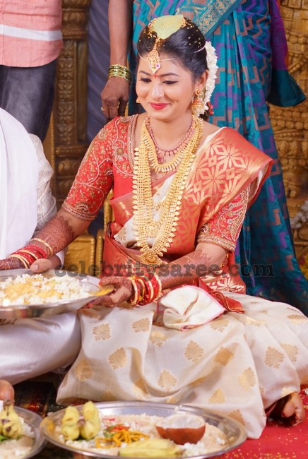 Reshmi Menon Wedding Saree