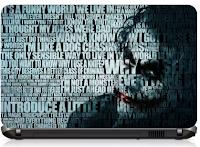 "Joker Typography 15"" Laptop Skin Cover"