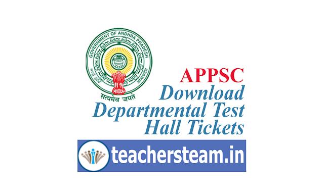 AP Dept Test Hall Tickets Downlaod