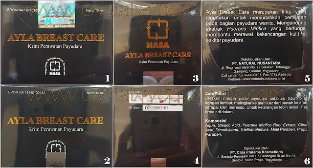 Ayla Breast Care Asli dan Plasu