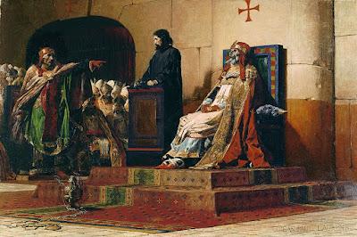 Το άψυχο σώμα του Πάπα Φορμόζου την ώρα της δίκης