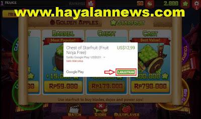 Fruit Ninja - Cara praktis dan cepat dapatkan 50.000 chest starfruit