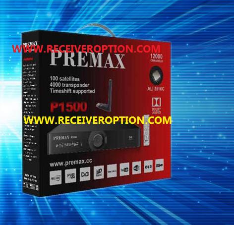PREMAX P1500 HD RECEIVER AUTO ROLL POWERVU KEY NEW SOFTWARE