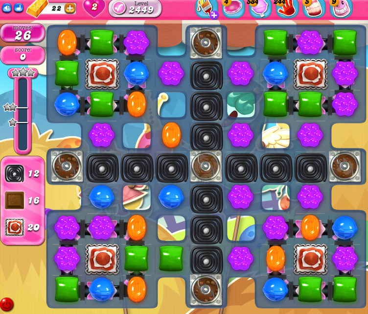 Candy Crush Saga level 2449