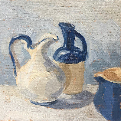 #39 'Three Little Jugs' 6×6″